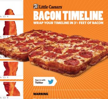 Avec Little Caesars transformez votre Timeline Twitter en Bacon !