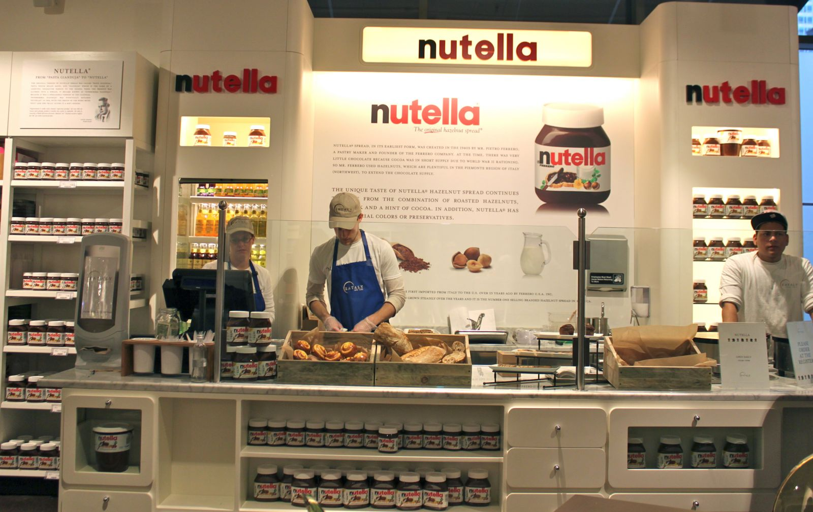 Un bar à Nutella