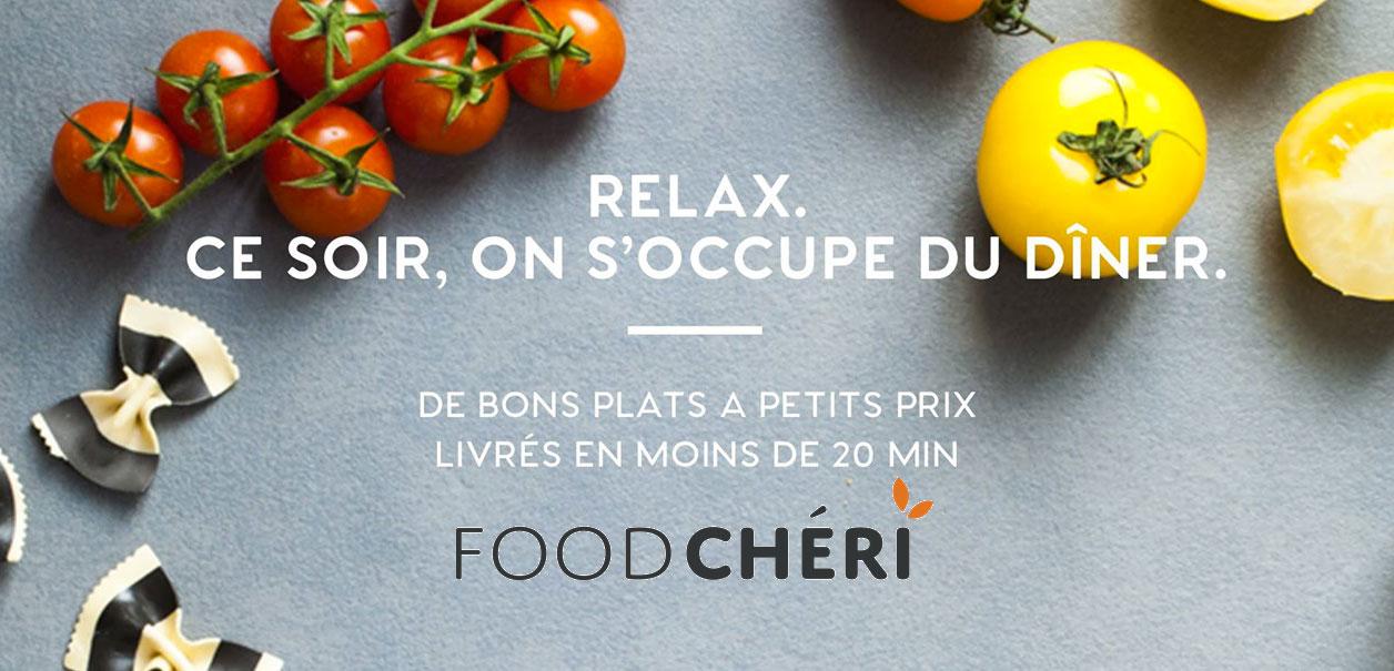 Foodch ri des plats frais livr s en moins de 20 minutes for Plats cuisines livres a domicile