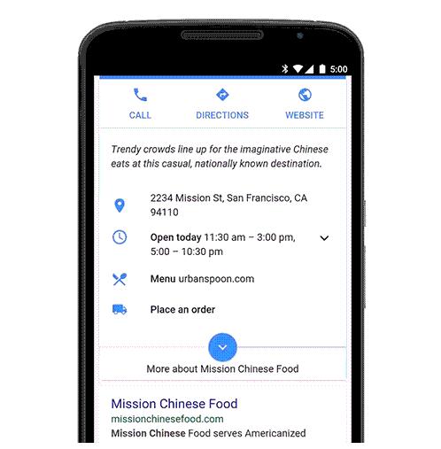 Google et sa nouvelle option pour commander