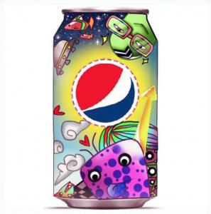 La canette explosive et colorée Pepsi