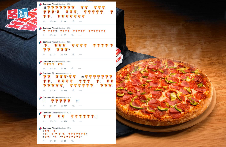 Avec Domino's Pizza, commande ta pizza en emoji !