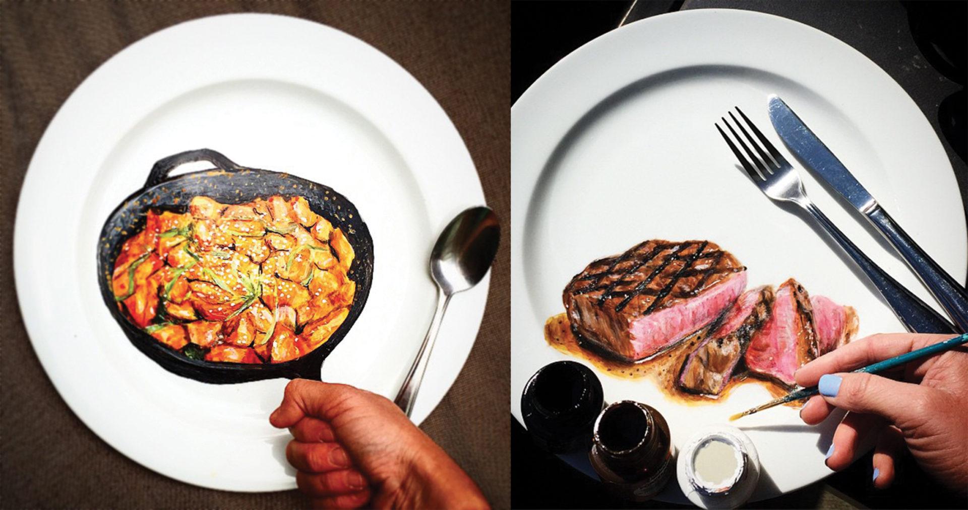 Les assiettes créatives peintes à la main