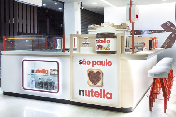 Un bar Nutella au Bresil