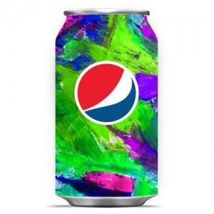 Canette Pepsi haute en couleurs