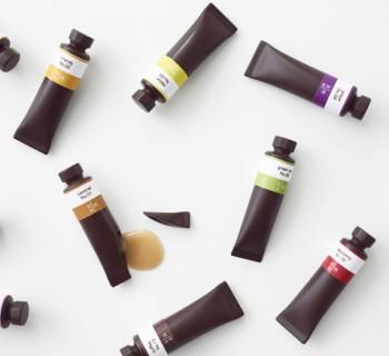 Packaging : des tubes de peinture en chocolat