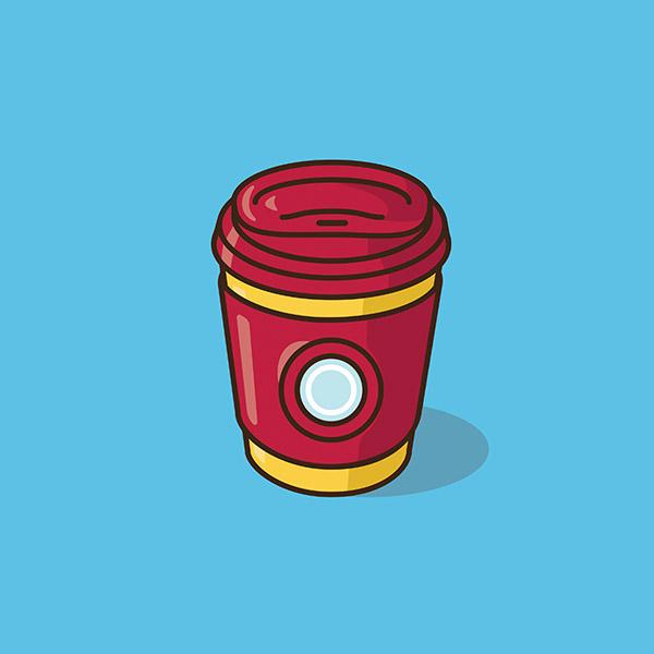 Des tasses version super héros et dessins animés !