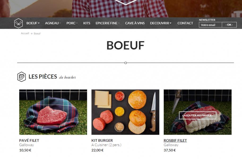 Le site web de Pièce du Boucher
