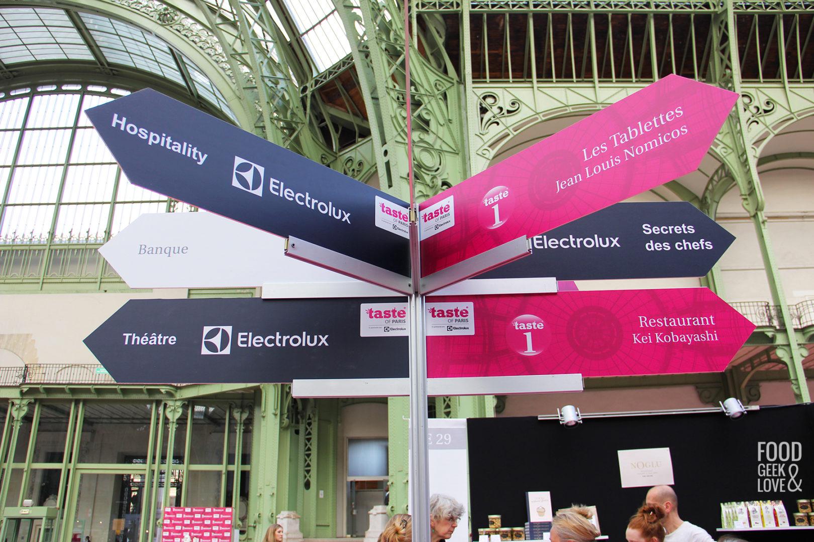 Les panneaux signalétique pour Taste of Paris 2015