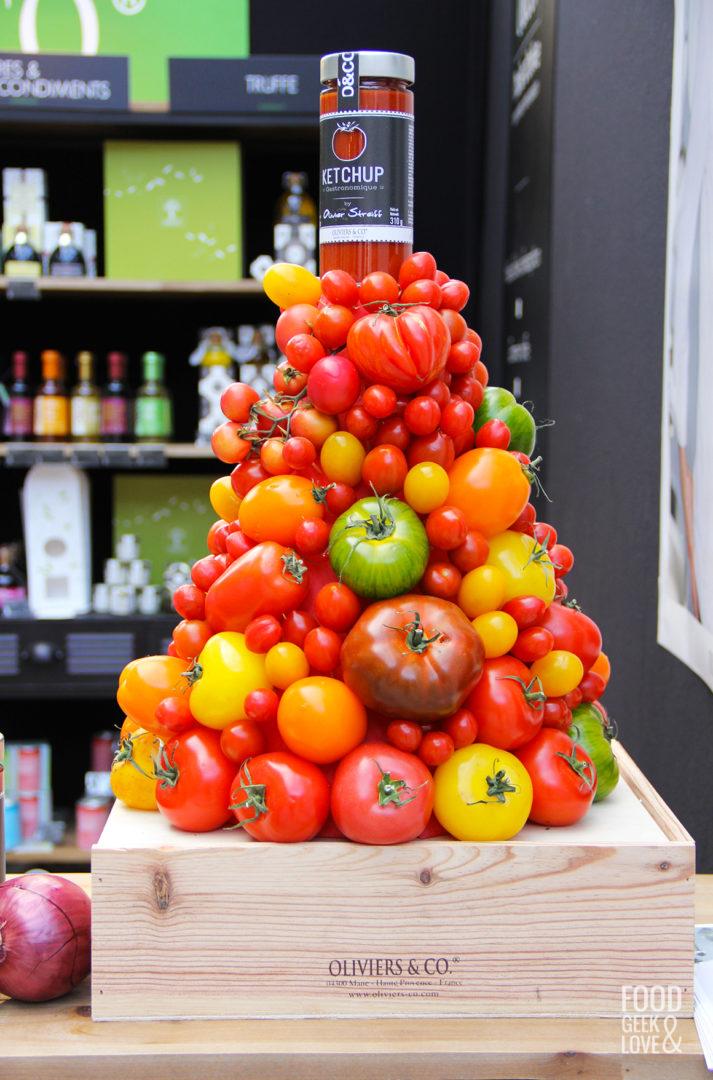 Pyramide de tomates à Taste of Paris 2015