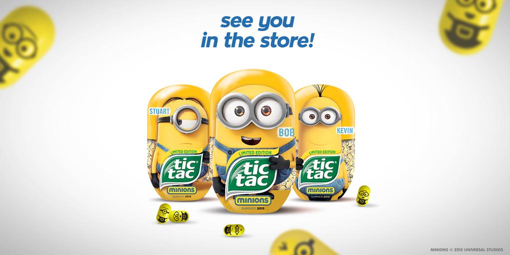 Tic Tac lance un nouveau parfum banane version Minions !