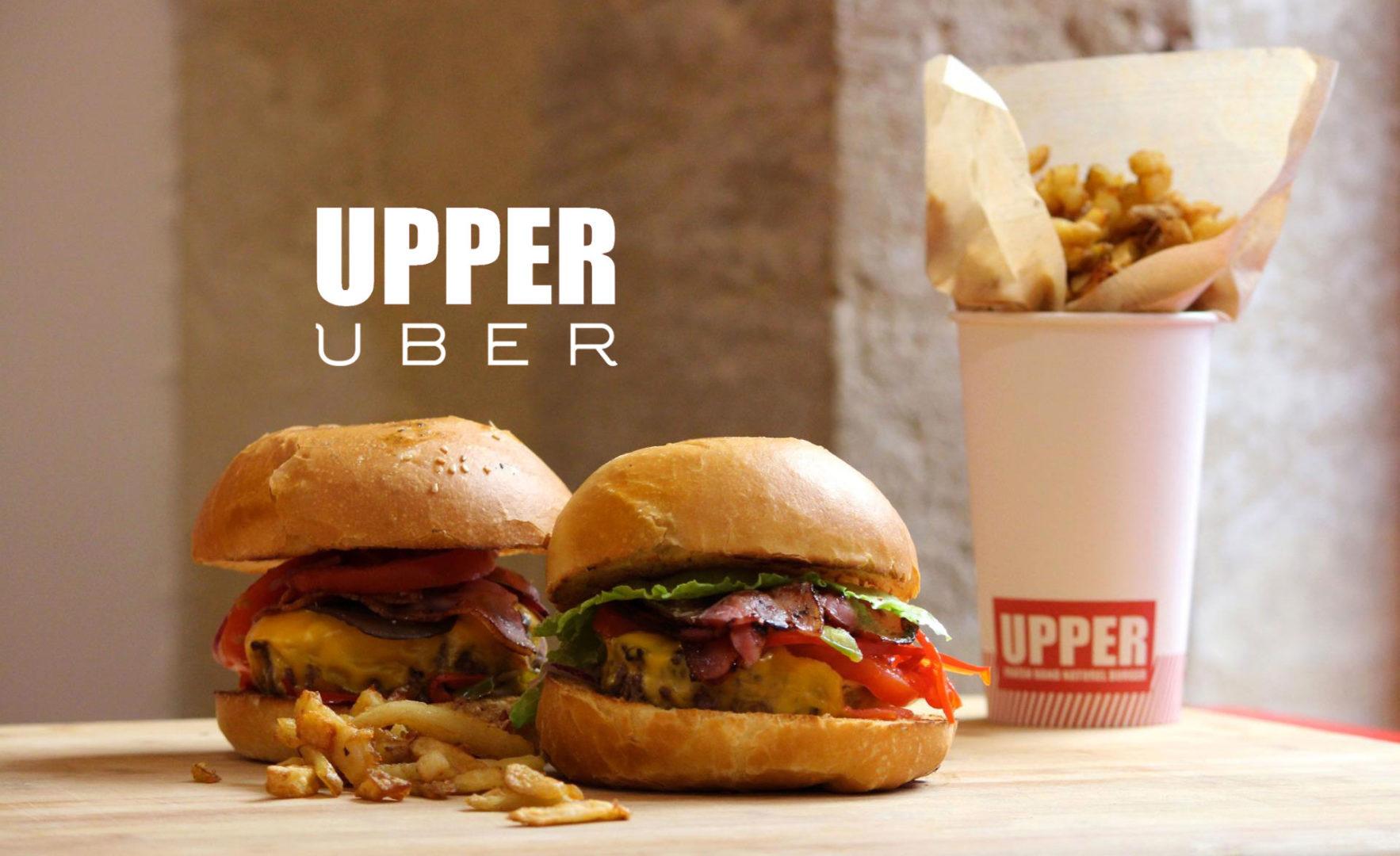 Uber & UPPER BURGER s'associent pour tester la food-livraison