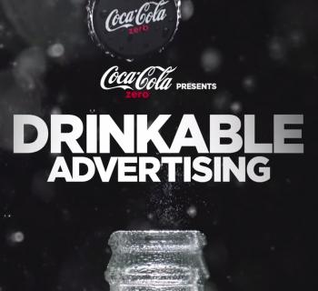 Une campagne interactive par Coca-Cola qui se boit vraiment !