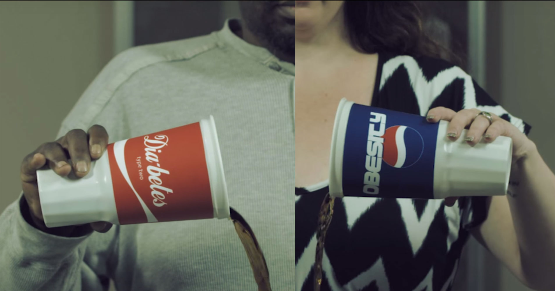 Un spot vidéo visant à dénoncer la consommation de sodas