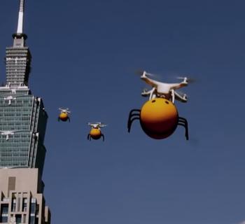 """À Taiwan, un drone """"abeille"""" vous livre de la bière"""