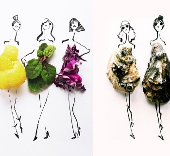 Des croquis de mode habillés de food !