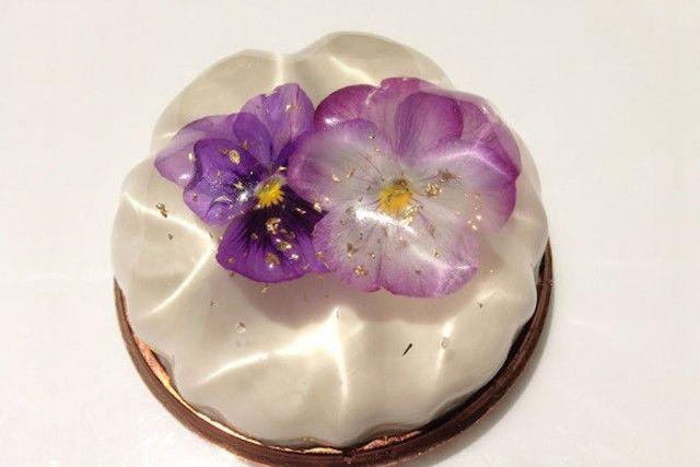 Gâteau gélatine fleurs