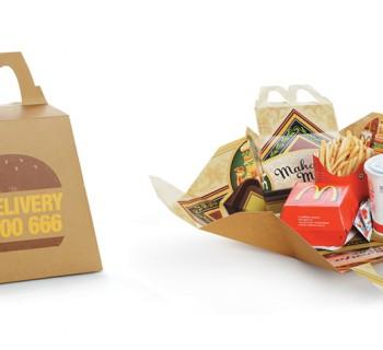 Sacs McDonald's transformés en plateau de jeu de société