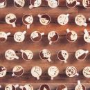 Une animation réalisée à partir de tasses de café