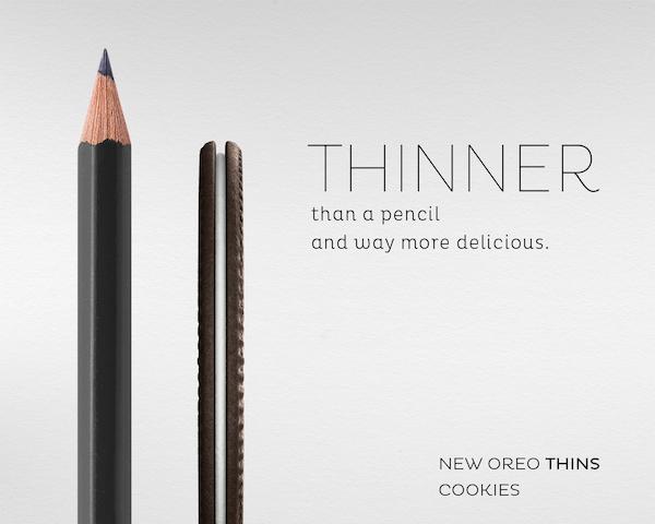 Publicité pour Oreo Thins