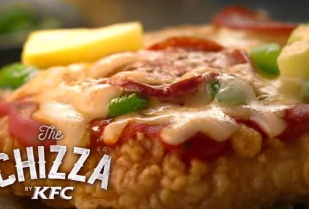 La Chizza, une pizza au poulet chez KFC