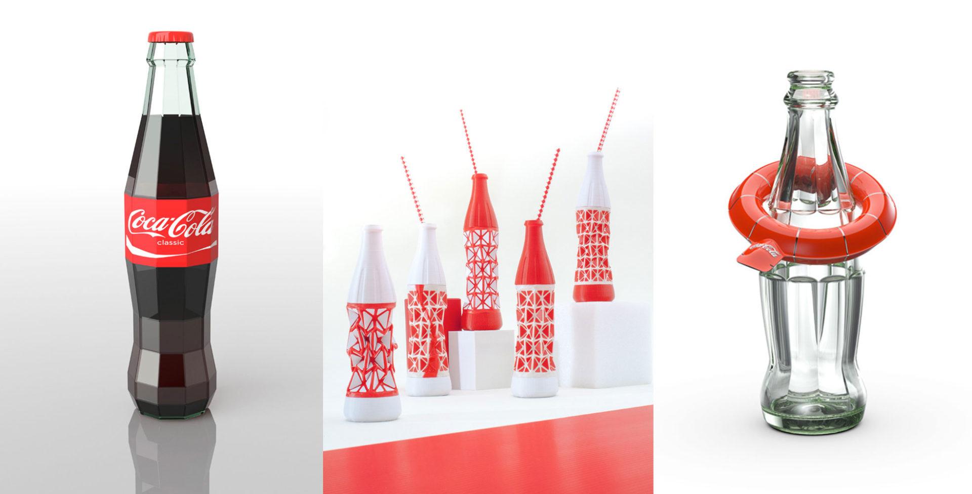 12 designers r imaginent la c l bre bouteille coca cola food geek love. Black Bedroom Furniture Sets. Home Design Ideas