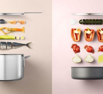 Des recettes simples illustrées de façon minimaliste