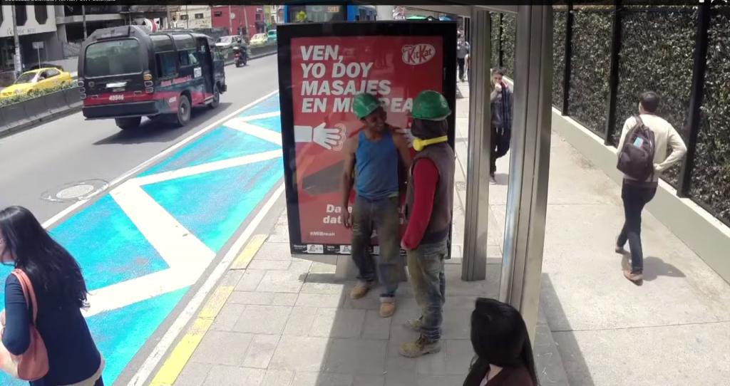 Campagne de communication d'affichage par KitKat