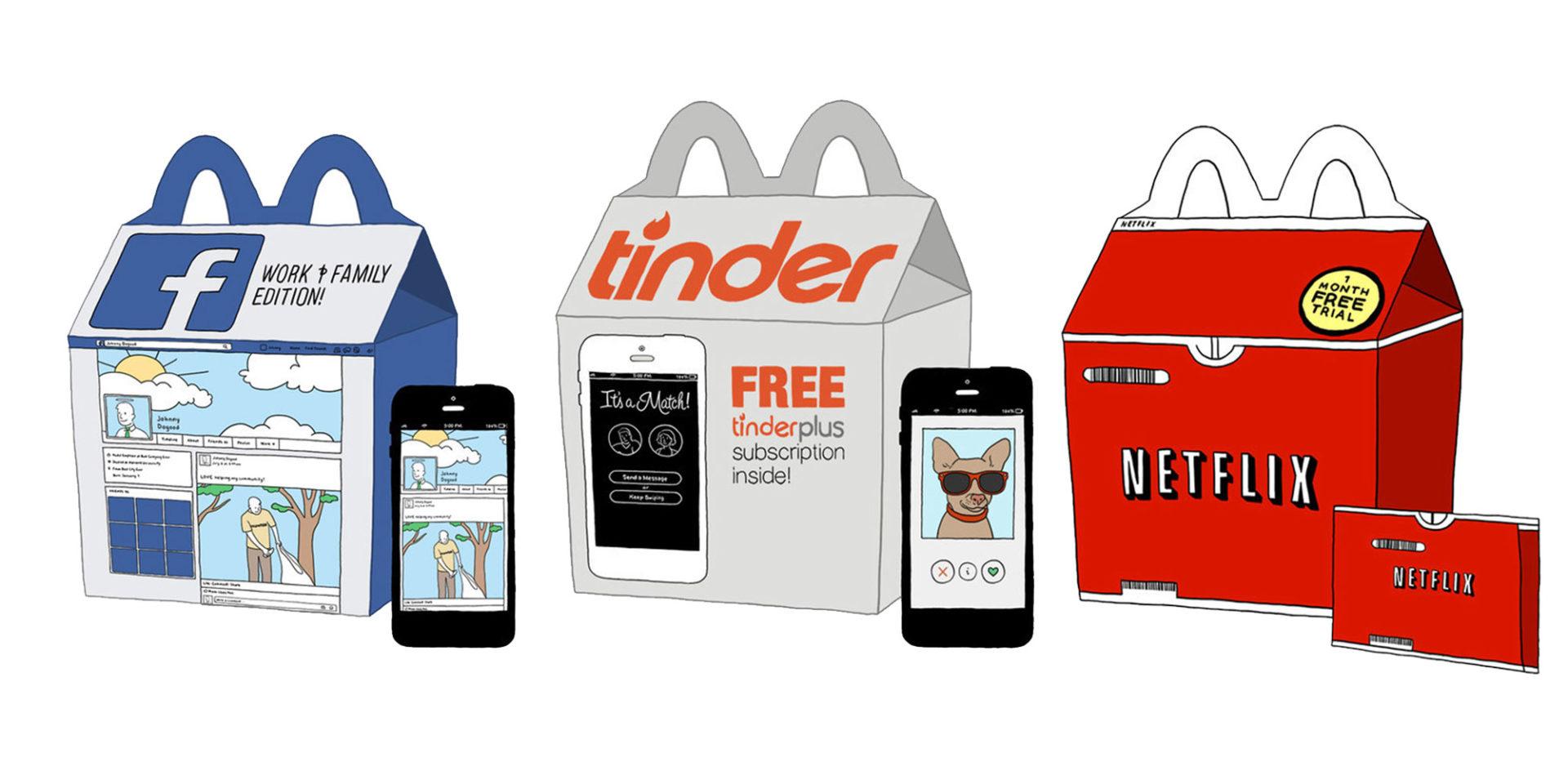 Une série de boîtes Happy Meal McDonald's destinées aux adultes !