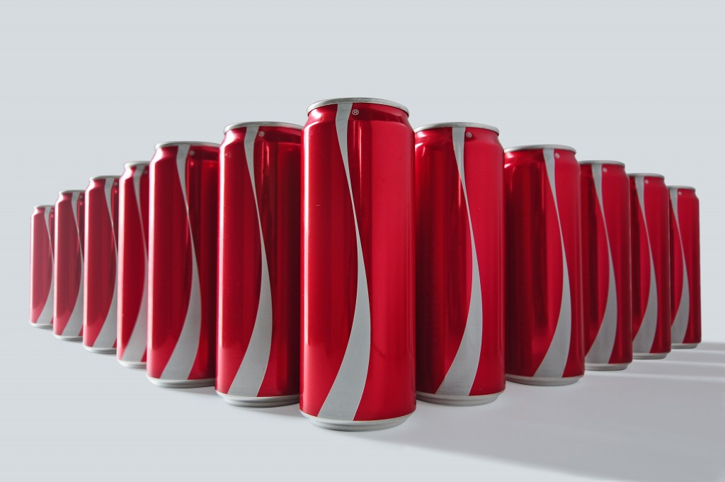 Packaging Coca-Cola au Moyen-Orient sans étiquette