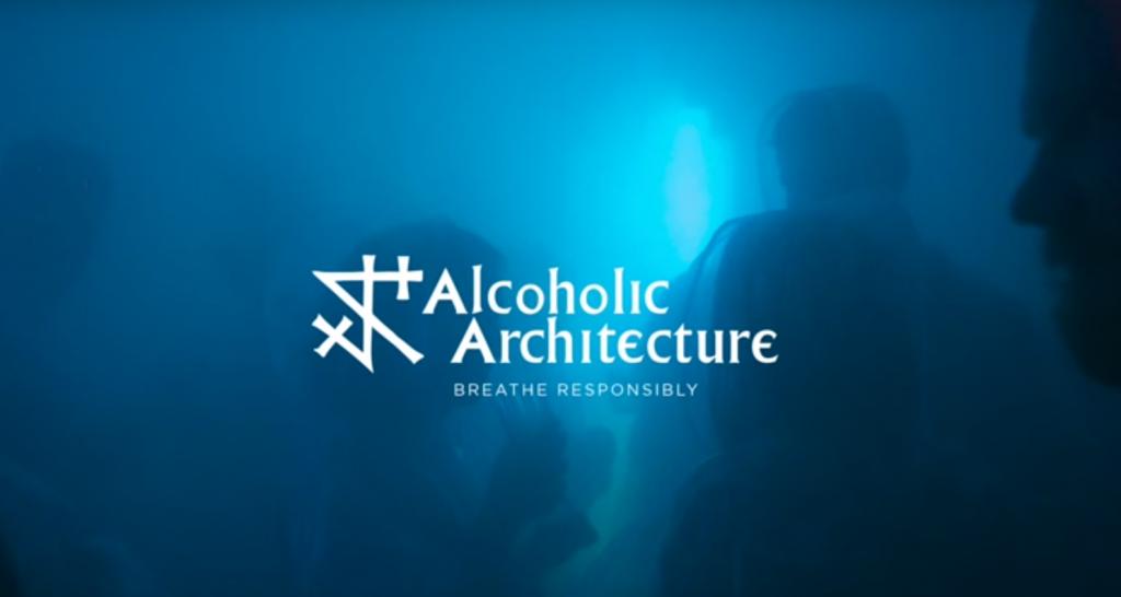 Le bar glacé Alcoholic architecture