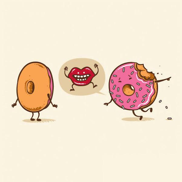 Un donut croqué