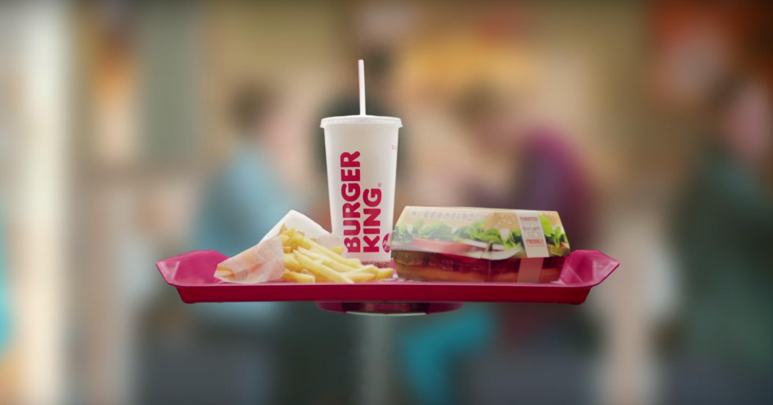 HoverTray : le plateau qui défit les lois de la gravité par Burger King !
