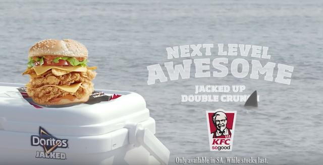 Le burger aux Doritos par KFC