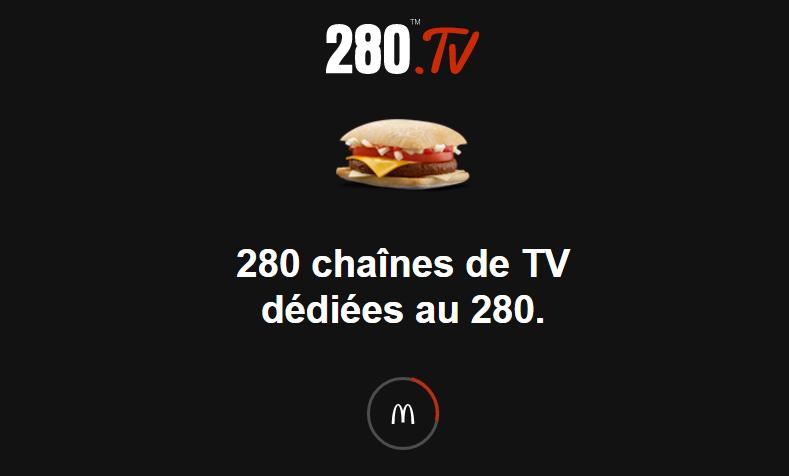 280 Chaîne de TV pour McDonald's