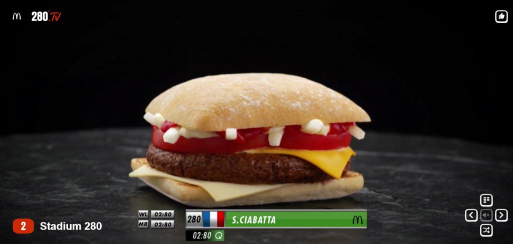McDonald's, le burger sur la chaîne SPORT