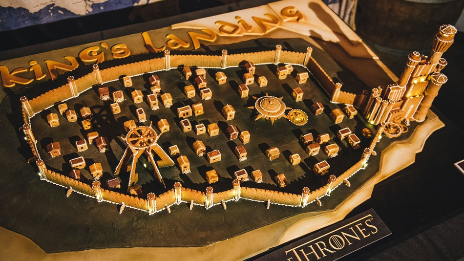 Le gâteau en food art Game of Thrones