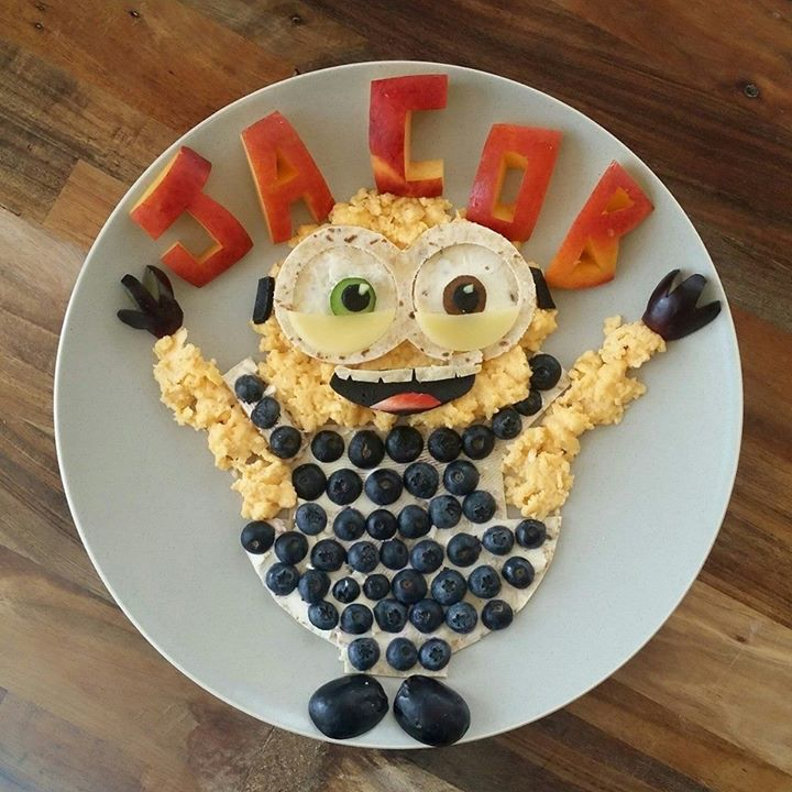 Assiette food Minion