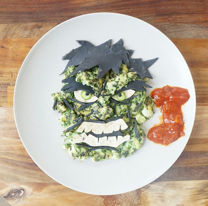 Assiette food Hulk