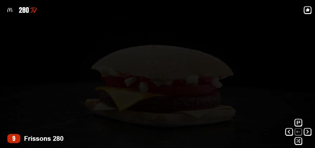 McDonald's, le burger sur la chaîne FRISSON