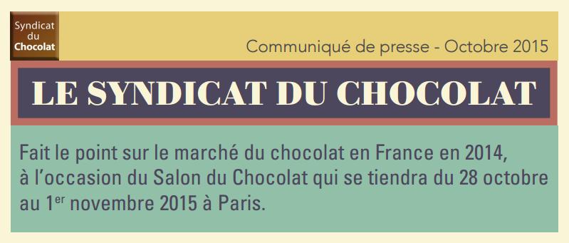 Les chiffres du marché du chocolat français