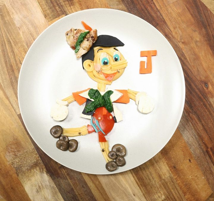 Assiette food Pinnochio