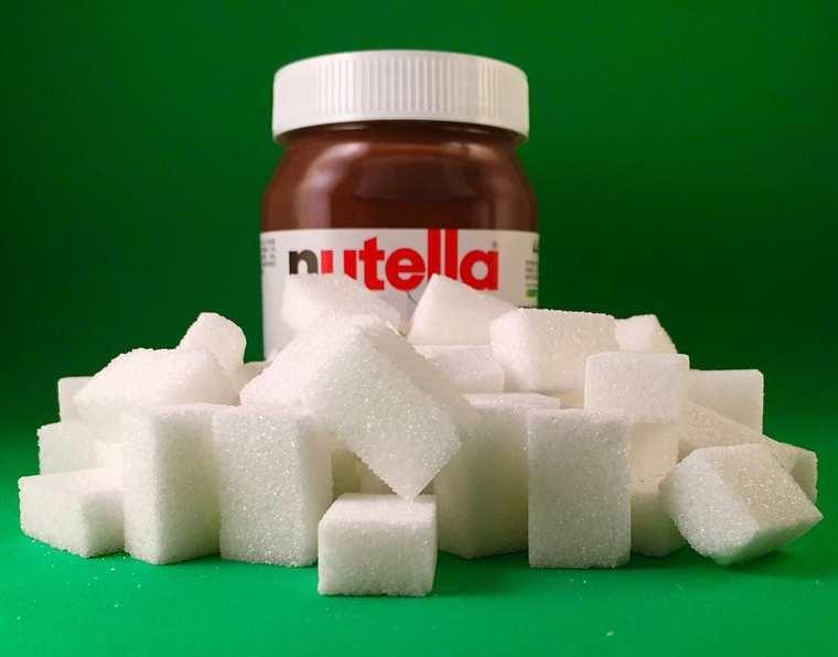 Le sucre dans le Nutella