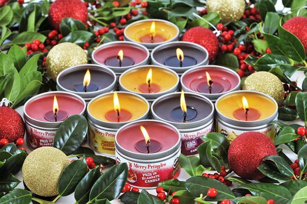 Des bougies Pringles originales pour Noël