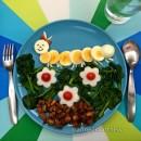 Assiettes créatives de Food'Art avec des oeufs