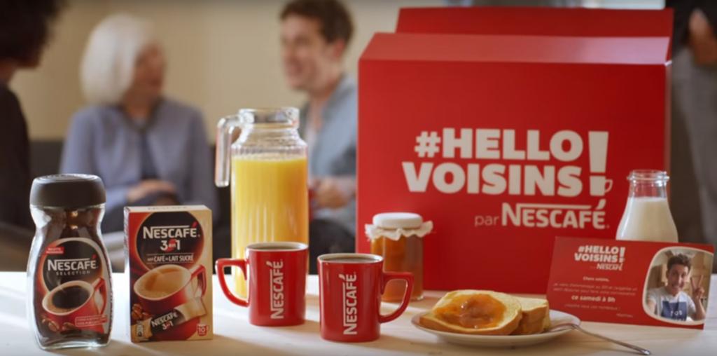 Hello Voisins, nouvelle opération de communication pour Nescafé