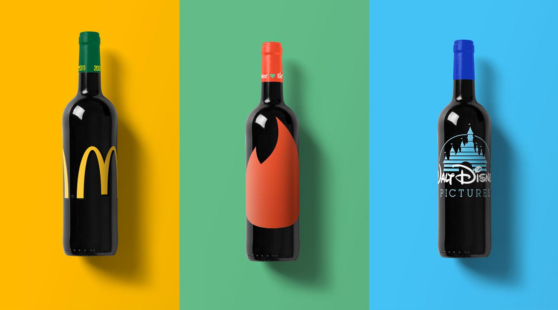 si les marques avaient leur propre bouteille de vin. Black Bedroom Furniture Sets. Home Design Ideas