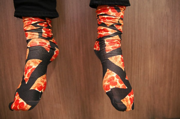 Les chaussettes Pizza Hut