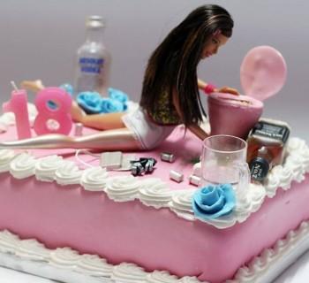 Un gâteau barbie drunk