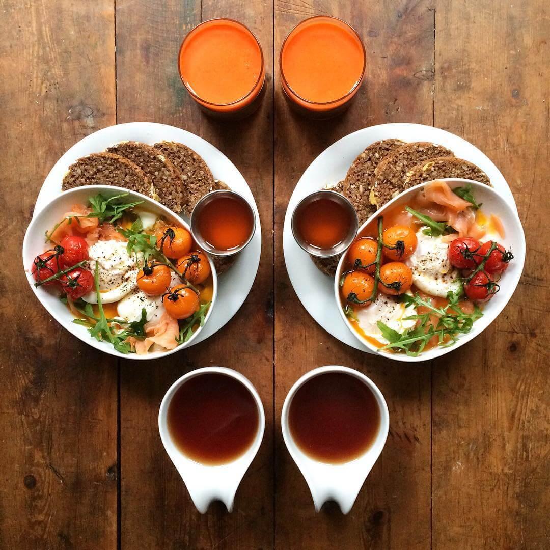 Un instagramer crée des petits déjeuners à la symétrie parfaite !